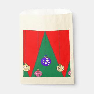 Árbol de navidad con los bulbos en XMAS15 rojo Bolsa De Papel