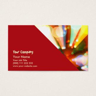 Árbol de navidad con los haces luminosos tarjeta de negocios