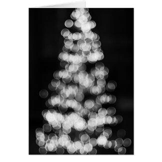 Árbol de navidad de Bokeh Tarjeta De Felicitación