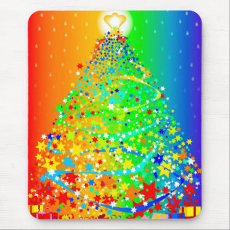 Árbol de navidad de la cinta alfombrilla de ratón