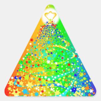 Árbol de navidad de la cinta pegatina triangular