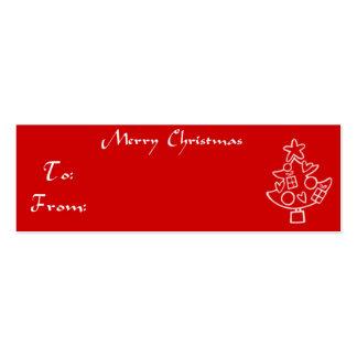 Árbol de navidad de la etiqueta del regalo del tarjetas de visita mini