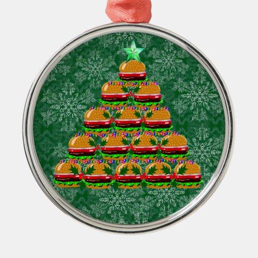 Rbol de navidad de la hamburguesa ornamentos de reyes - Ornamentos de navidad ...