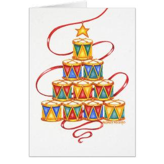 Árbol de navidad de la tarjeta de felicitación del