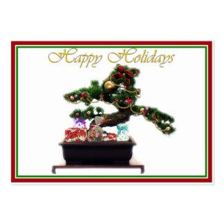 Árbol de navidad de los bonsais tarjetas de visita