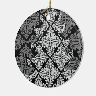 Árbol de navidad de lujo adornado 2013 adorno navideño redondo de cerámica
