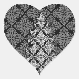 Árbol de navidad de lujo adornado 2013 pegatina en forma de corazón