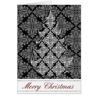 Árbol de navidad de lujo adornado 2013 tarjeta de felicitación