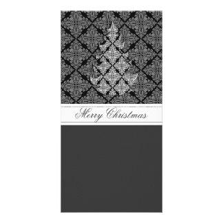 Árbol de navidad de lujo adornado 2013 tarjetas fotográficas