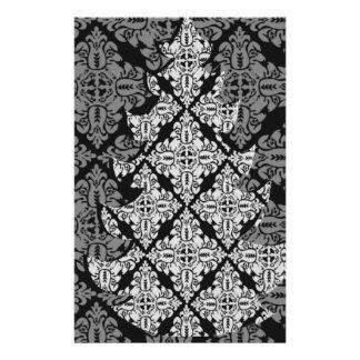 Árbol de navidad de lujo adornado elegante folleto 14 x 21,6 cm