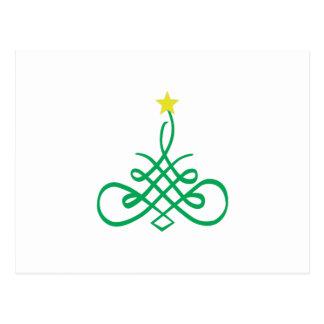 Árbol de navidad de lujo postal