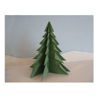 Árbol de navidad de Origami Tarjeta Postal