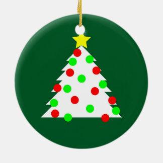 Árbol de navidad de papel del recorte adorno de cerámica