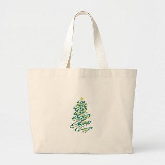 Árbol de navidad de Swirly Bolsa Tela Grande