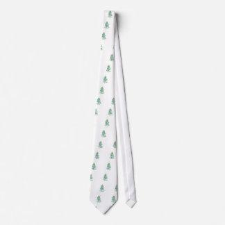 Árbol de navidad de Swirly Corbatas Personalizadas