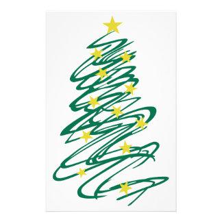 Árbol de navidad de Swirly Papelería Personalizada