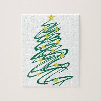 Árbol de navidad de Swirly Puzzle Con Fotos