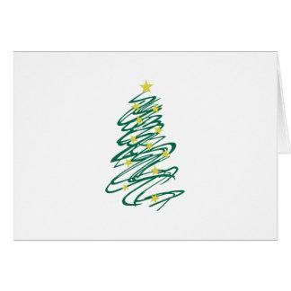 Árbol de navidad de Swirly Tarjeta De Felicitación