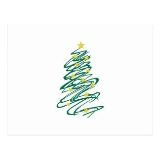 Árbol de navidad de Swirly Postal