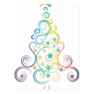 Árbol de navidad decorativo postal