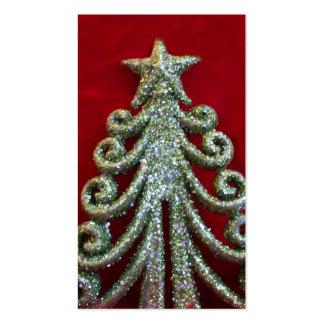 Árbol de navidad del brillo tarjetas de visita