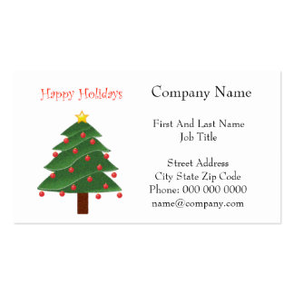 Árbol de navidad del dibujo animado buenas fiestas tarjetas de visita