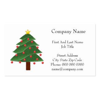 Árbol de navidad del dibujo animado con el dibujo tarjetas de visita