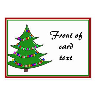 Árbol de navidad del dibujo animado tarjetas de visita grandes