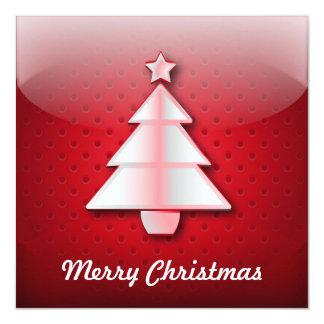 Árbol de navidad del icono de la invitación