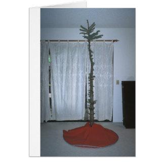 Árbol de navidad divertido y extraño tarjeta de felicitación