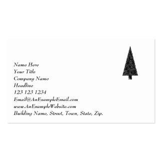Árbol de navidad elegante Blanco y negro Tarjeta De Visita