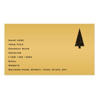 Árbol de navidad elegante Negro y oro Plantillas De Tarjeta De Negocio