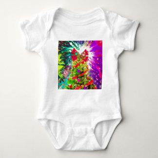 Árbol de navidad en colores completos body para bebé