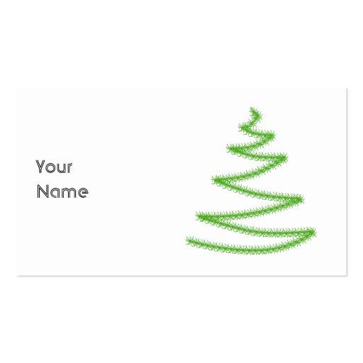 Árbol de navidad en verde, simple y elegante tarjeta personal