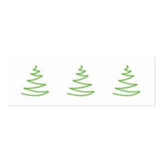 Árbol de navidad en verde, simple y elegante tarjetas de visita mini