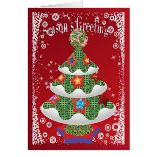 Árbol de navidad enrrollado moderno tarjeta de felicitación