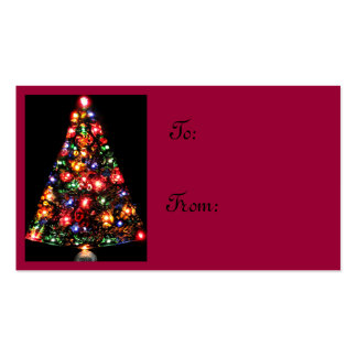 Árbol de navidad festivo tarjetas de visita