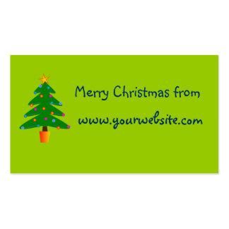 Árbol de navidad festivo verde plantillas de tarjetas personales