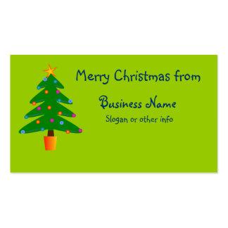 Árbol de navidad festivo verde plantilla de tarjeta personal