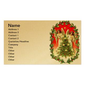 Árbol de navidad gemelo del anillo de los ángeles tarjetas de visita
