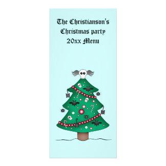 Árbol de navidad gótico lindo tarjeta publicitaria