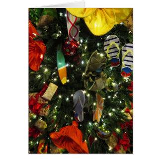 Árbol de navidad hawaiano tarjeta