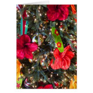 Árbol de navidad hawaiano tarjeta de felicitación