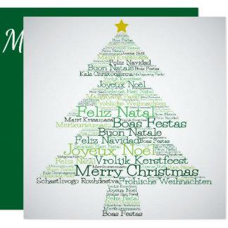"""Árbol de navidad hecho """"de las palabras de las invitación 13,3 cm x 13,3cm"""
