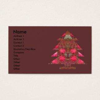 Árbol de navidad - hojas de otoño tarjeta de negocios