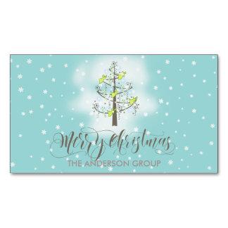 Árbol de navidad ID197 azul del ángel Tarjetas De Visita Magnéticas (paquete De 25)