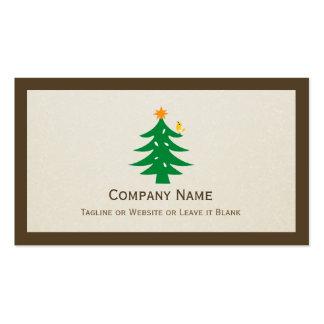 Árbol de navidad lindo - elegante limpio simple tarjeta de visita