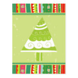 Árbol de navidad lindo tarjeta postal
