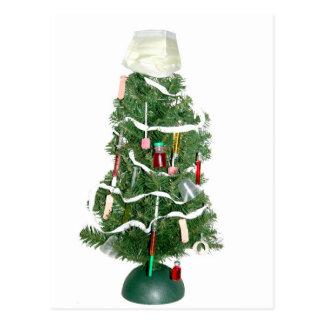 Árbol de navidad médico postal