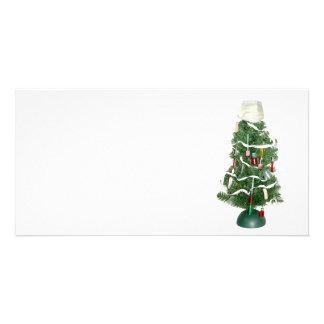 Árbol de navidad médico tarjeta personal con foto